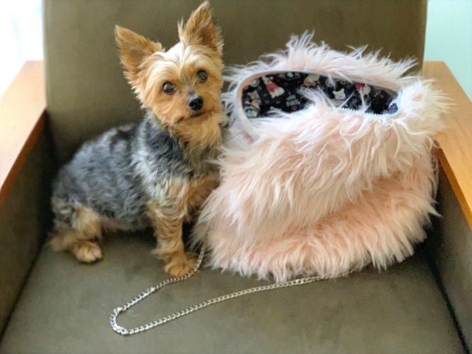 Fur circle bag